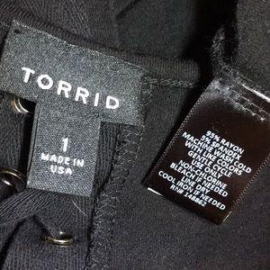 torrid Tops - TORRID Black Corset Back Tee